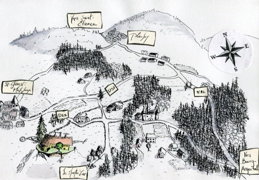 plan accès Monto'Zar